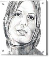 Sandra Bullock Acrylic Print