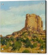 Sandstone Butte Navajo Country Acrylic Print