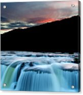 Sandstone Falls At Sunset In West Virginia Acrylic Print