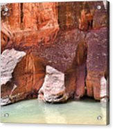 Sandstone Toes In The Virgin River Acrylic Print