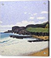 Sandy Beach Oahu Acrylic Print