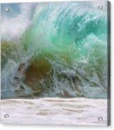 Sandy Beach Surf Acrylic Print
