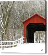 Sandy Creek Covered Bridge Acrylic Print
