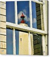 Sandy Hook Lighthouse Reflection Acrylic Print