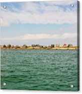 Sandy Neck Lighthouse And Cottages, Barnstable, Massachusetts, U.s.a. Acrylic Print