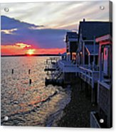 Sandy Neck Sunset At The Cottages Acrylic Print