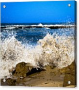 Sandy Surf Splash Acrylic Print