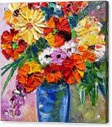 Sandy's Flowers Acrylic Print