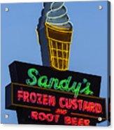 Sandys Frozen Custard - Austin Acrylic Print