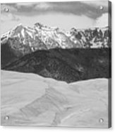 Sangre De Cristo Mountains And The Great Sand Dunes Bw Acrylic Print