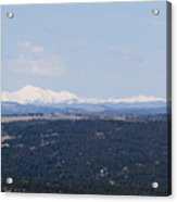Sangre De Cristo Mountains From Bald Mountain Colorado Acrylic Print