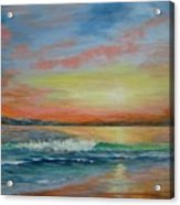 Sangria Beach Acrylic Print