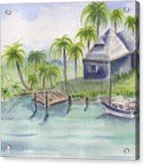 Sanibel Castaways View Over Bay Acrylic Print