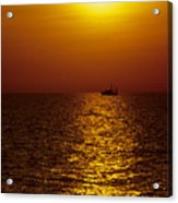 Sanibel Shrimp Boat At Sunset Acrylic Print