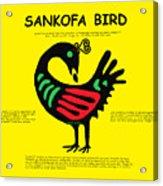Sankofa Bird Of Knowledge Acrylic Print