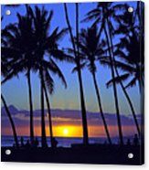 Sans Souci Sunset Waikiki Acrylic Print