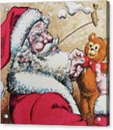 Santa And Teddy Acrylic Print