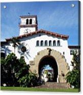 Santa Barbara Courthouse -by Linda Woods Acrylic Print