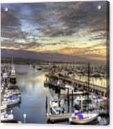 Santa Barbara Harbor Sunset Acrylic Print