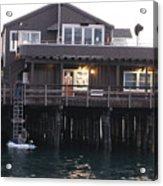 Santa Barbara Pier At Dusk Acrylic Print