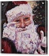 Santa Chat Acrylic Print