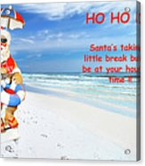 Santa Christmas Greeting Card Acrylic Print