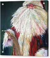 Santa Claus  Making A List And Checking It Twice Acrylic Print by Shelley Schoenherr