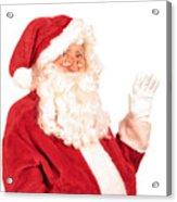 Santa Claus Waving Hand Acrylic Print