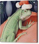 Santa Claws - Bob The Lizard Acrylic Print