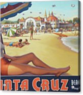 Santa Cruz For Youz Acrylic Print by Bob Christopher