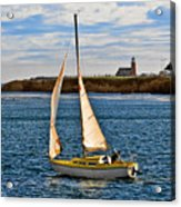 Santa Cruz Mark Abbott Memorial Lighthouse Ca  Acrylic Print by Christine Till