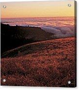 Santa Cruz Mountains At Sunset Ca Usa Acrylic Print