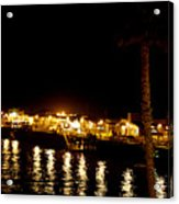 Santa Cruz Pier At Night Acrylic Print