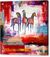 Santa Fe Dreams Horses Acrylic Print