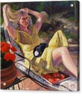 Santa Fe Garden 4 Acrylic Print