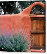 Santa Fe Gate No. 2 - Rustic Adobe Antique Door Home Country  Acrylic Print