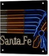 Santa Fe Indian Acrylic Print