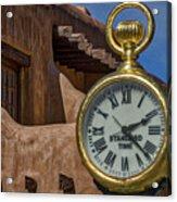 Santa Fe Plaza Clock Acrylic Print