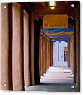 Santa Fe Sidewalk Acrylic Print