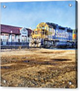 Santa Fe Train In Ardmore Acrylic Print