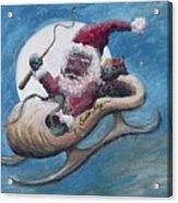 Santa Hog Acrylic Print