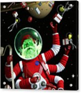 Santa In Space Acrylic Print