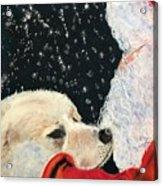 Santa Loves Dogs Acrylic Print