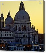 Santa Maria Della Salute On Grand Canal In Venice Against The Evening Sky Acrylic Print