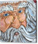 Santa - Merry Christmas Art Acrylic Print
