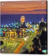 Santa Monica Ca  Pacific Park Pier Acrylic Print