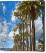 Santa Monica Ca Palisades Park Bluffs  Acrylic Print