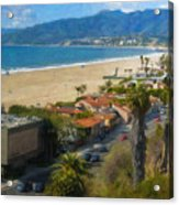 Santa Monica Ca Steps Palisades Park Bluffs  Acrylic Print