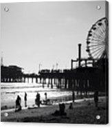 Santa Monica Pier Acrylic Print by John Gusky