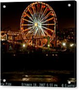Santa Monica Pier October 18 2007  Acrylic Print